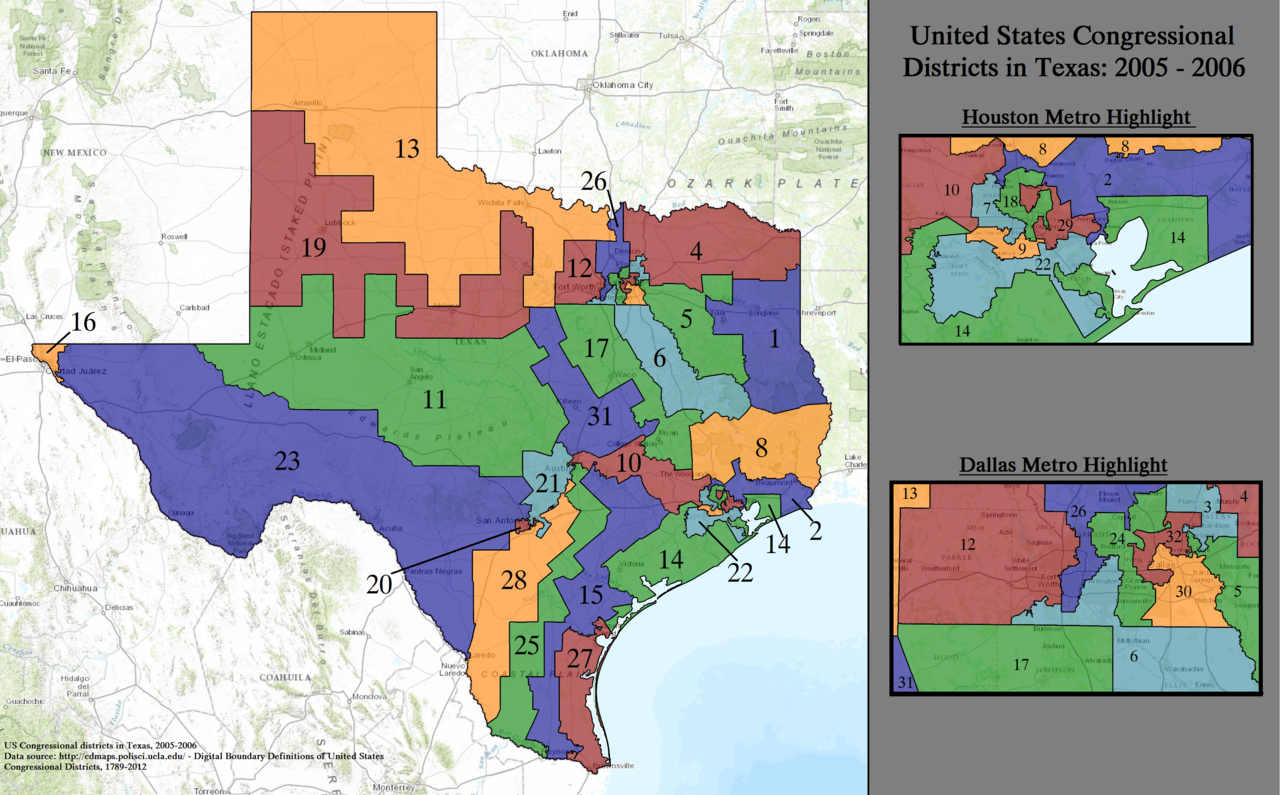 FileUnited States Congressional Districts In Texas 2005