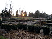 Sunset view and outdoor gardens at the Matthaei Botanical Gardens.