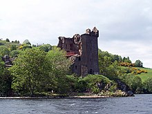 Urquhart Castle Tower from loch - geograph.org.uk - 1112376.jpg