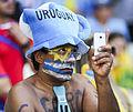 Uruguay - Costa Rica FIFA World Cup 2013 (2014-06-14; fans) 11.jpg