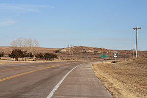 U.S. Route 64 in Oklahoma - US-64 in Woods County