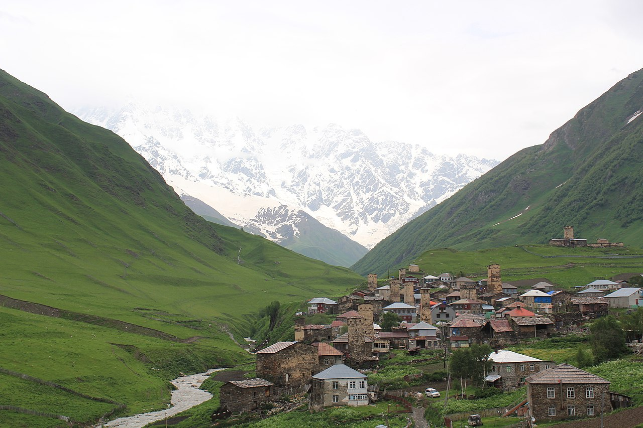 Mestia village in Svaneti region