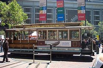 San Francisco cable car system - Image: Uss ca sanfran cablecar