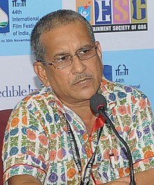 Utpal Datta addressing a press conference in 2013