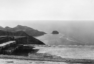 Utsikt mot Petra Tou Limniti från palatset. Vouni. Galini - SMVK - C03278.tif