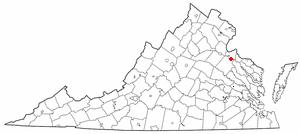 Port Royal, Virginia - Image: VA Map doton Port Royal