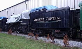 Virginia Central #1286 stocké à Verona