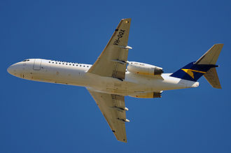 Fokker 70 - Alliance Airlines F70 from below