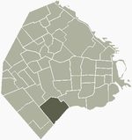 Location of Villa Soldati within Buenos Aires