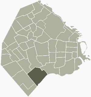 Villa Soldati - Image: V Soldati Buenos Aires map