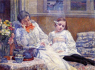 Théo van Rysselberghe - His wife Maria and daughter Elisabeth