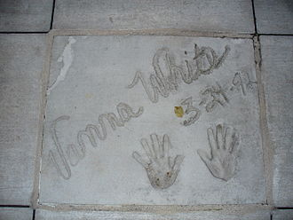 Vanna White - The handprints of Vanna White in front of Hollywood Hills Amphitheater at Walt Disney World's Disney's Hollywood Studios theme park