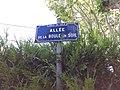 Vaulx-en-Velin - Allée de la Boule en Soie, plaque.jpg