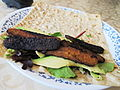 Vegan Tempeh Bacon wrap (5727297742).jpg