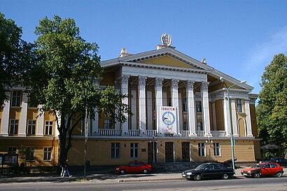 Kuidas ühistranspordiga sihtpunkti Vene Kultuurikeskus jõuda - kohast