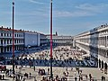 Venezia Basilica di San Marco Terrasse Blick auf die Piazza San Marco 2.jpg