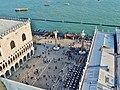Venezia Blick vom Campanile der Basilica di San Marco auf die Piazetta San Marco 1.jpg