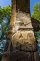 Vestiges de peintures au nord de l'arc diaphragme de l'ancienne église Saint-André, Saint-André-des-Eaux, France.jpg