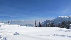 View of snow-capped monutains, Gulmarg