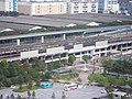 View of Kasai Rinkai Koen Station from Diamond and Flower Ferris Wheel 02.jpg