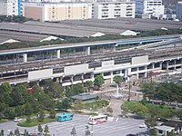View of Kasai Rinkai Koen Station from Diamond and Flower Ferris Wheel 02.jpg