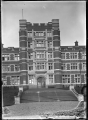 View of Knox College, Dunedin, showing the front entrance. ATLIB 295429.png