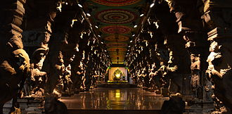 Tourism in India - Hall of Thousand Pillars at the Meenakshi Temple in Madurai