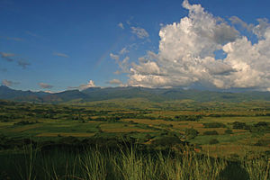 Isabela (province) - View of the Sierra Madre from Cabagan