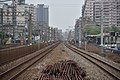 View of tracks toward TRA Shulin Station from South Shulin Station.jpg
