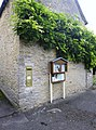 Village notice board and postbox, Ampney St Peter, Gloucestershire (2).jpg