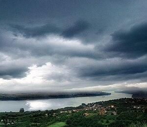 Vinča - Aerial view on Vinča and the Danube