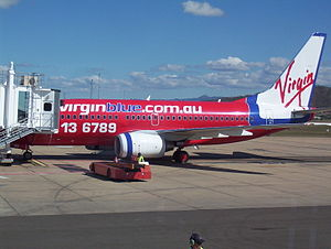 Townsville Airport - Virgin Blue Boeing 737-700 at Townsville after arriving from Brisbane