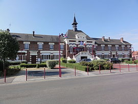 The town hall and school of Viry-Noureuil