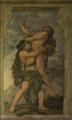 Vitória de Hércules sobre o Gigante Anteu, 11.º Trabalho de Hércules (Escadaria, Palácio Quintela).png
