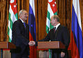 Vladimir Putin and Sergey Bagapsh in Abkhazia 2009-3.jpeg