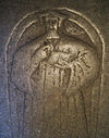 Detalje fra Frans Vormordsens gravsten i Lunds domkirke.