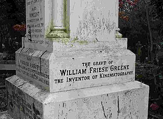 Highgate Cemetery - Grave of William Friese-Greene by Lutyens, East Cemetery