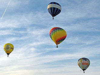 Hot air ballooning - Hot air balloons in flight