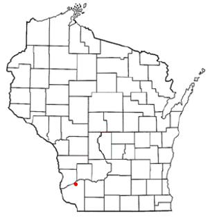 Boscobel (town), Wisconsin - Image: WI Map doton Boscobel