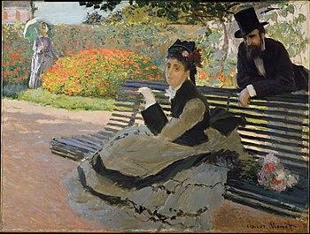 WLA metmuseum Camille Monet on a Garden Bench ...
