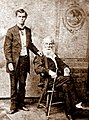 Walt Whitman with Harry Stafford, 1878.jpg