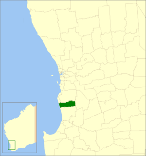 Shire of Waroona - Location in Western Australia