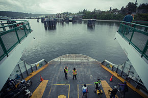 Washington State Ferry boat landing at Bainbridge Island Terminal.jpg