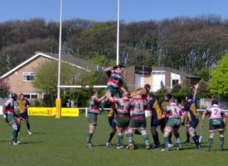 Waterloo FC - Waterloo lineout at Blundellsands.