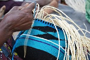 Kamba people - Basket-weaving, one of the traditional skills of the Kamba.