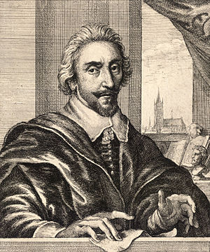 Adriaen van de Venne - Self-portrait engraved by Wenceslas Hollar.