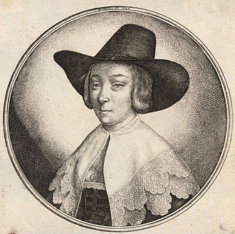 Wenceslaus Hollar - Woman with high crowned hat.
