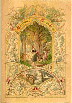 Mathilde Wesendonck - Cover of Märchen u. Märchen Spiele by Mathilde Wesendonck (published: Düsseldorf, 1864)