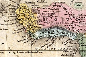 West Africa - West Africa circa 1839