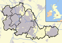 Dudley is located in the West Midlands